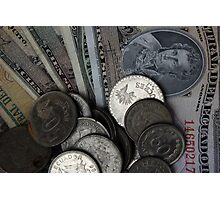 Ecuadorian Coins and Notes Photographic Print