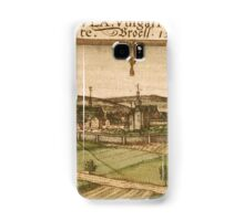 Bruhl Vintage map.Geography Germany ,city view,building,political,Lithography,historical fashion,geo design,Cartography,Country,Science,history,urban Samsung Galaxy Case/Skin