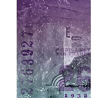Purple abstract Photographic Print