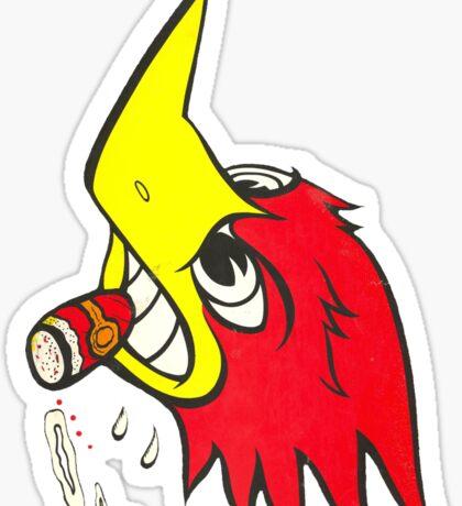 wild woodpecker vertical Sticker