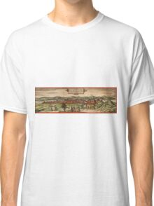 Budapest Vintage map.Geography Hungary ,city view,building,political,Lithography,historical fashion,geo design,Cartography,Country,Science,history,urban Classic T-Shirt