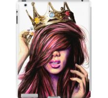 Clumsy crowned girl iPad Case/Skin