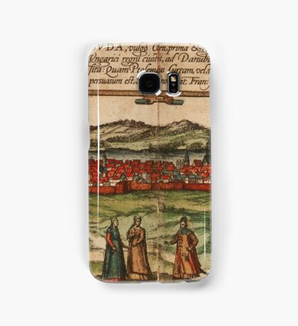 Budapest Vintage map.Geography Hungary ,city view,building,political,Lithography,historical fashion,geo design,Cartography,Country,Science,history,urban Samsung Galaxy Case/Skin