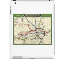 TUBE, UNDERGROUND, MAP, 1908, London, Historic, UK, GB, England, on WHITE iPad Case/Skin