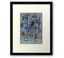 The girl of the forest Framed Print