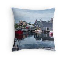 Pegggies Cove Nova Scotia  Throw Pillow