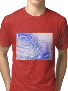 Sky Blue Flower - Abstract Fractal Artwork Tri-blend T-Shirt