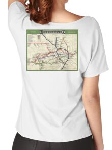 TUBE, UNDERGROUND, MAP, 1908, London, Historic, UK, GB, England, on WHITE Women's Relaxed Fit T-Shirt
