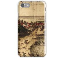 Cadiz Vintage map.Geography Spain ,city view,building,political,Lithography,historical fashion,geo design,Cartography,Country,Science,history,urban iPhone Case/Skin