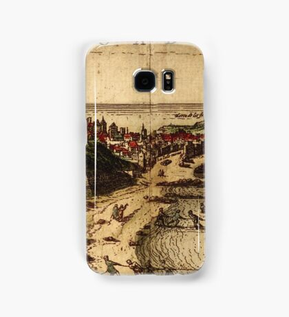 Cadiz Vintage map.Geography Spain ,city view,building,political,Lithography,historical fashion,geo design,Cartography,Country,Science,history,urban Samsung Galaxy Case/Skin