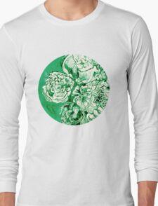 green ink flowers Long Sleeve T-Shirt