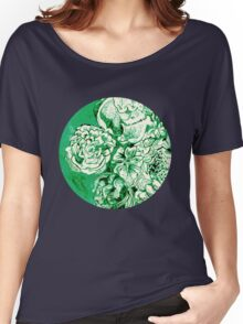 green ink flowers Women's Relaxed Fit T-Shirt