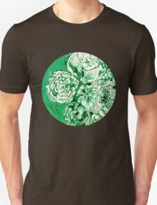 green ink flowers Unisex T-Shirt