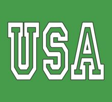 USA, U.S.A. United States of America, Patriot, America, American, US, on BLUE One Piece - Short Sleeve