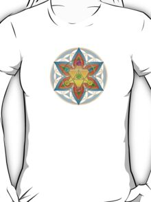 Merkaba, Chakras, Flower Of Life, Metatrons Cube, Sacred Geometry T-Shirt