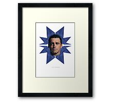 Vector Celebrities - Matt LeBlanc Framed Print