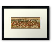 Konstanz Vintage map.Geography Germany ,city view,building,political,Lithography,historical fashion,geo design,Cartography,Country,Science,history,urban Framed Print