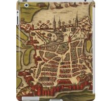 La Rochelle Vintage map.Geography France ,city view,building,political,Lithography,historical fashion,geo design,Cartography,Country,Science,history,urban iPad Case/Skin