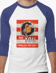 Vintage Uncle Same - Are you doing all you can Men's Baseball ¾ T-Shirt