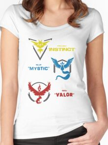Pokemon GO Teams Women's Fitted Scoop T-Shirt