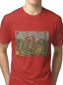 Caiazzo Vintage map.Geography Italy ,city view,building,political,Lithography,historical fashion,geo design,Cartography,Country,Science,history,urban Tri-blend T-Shirt