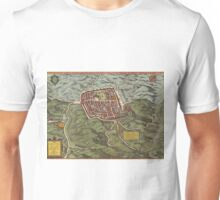 Caiazzo Vintage map.Geography Italy ,city view,building,political,Lithography,historical fashion,geo design,Cartography,Country,Science,history,urban Unisex T-Shirt