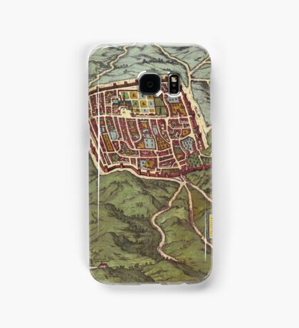 Caiazzo Vintage map.Geography Italy ,city view,building,political,Lithography,historical fashion,geo design,Cartography,Country,Science,history,urban Samsung Galaxy Case/Skin