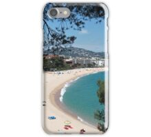 Beach on a hot day Aerial View iPhone Case/Skin