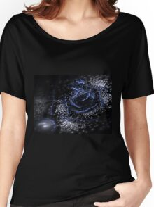 Dark Flower - Abstract Fractal Artwork Women's Relaxed Fit T-Shirt