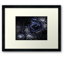 Dark Flower - Abstract Fractal Artwork Framed Print