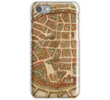 Freiberg Vintage map.Geography Germany ,city view,building,political,Lithography,historical fashion,geo design,Cartography,Country,Science,history,urban iPhone Case/Skin
