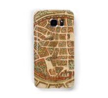 Freiberg Vintage map.Geography Germany ,city view,building,political,Lithography,historical fashion,geo design,Cartography,Country,Science,history,urban Samsung Galaxy Case/Skin
