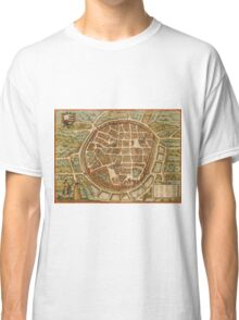 Freiberg Vintage map.Geography Germany ,city view,building,political,Lithography,historical fashion,geo design,Cartography,Country,Science,history,urban Classic T-Shirt