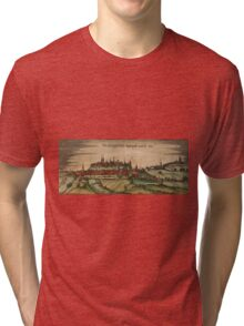 Freising Vintage map.Geography Germany ,city view,building,political,Lithography,historical fashion,geo design,Cartography,Country,Science,history,urban Tri-blend T-Shirt