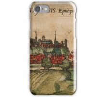 Freising Vintage map.Geography Germany ,city view,building,political,Lithography,historical fashion,geo design,Cartography,Country,Science,history,urban iPhone Case/Skin