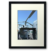military helicopter Framed Print