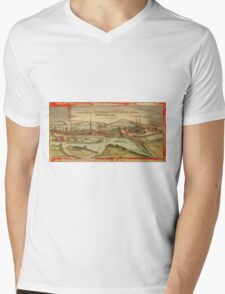 Fulda Vintage map.Geography Germany ,city view,building,political,Lithography,historical fashion,geo design,Cartography,Country,Science,history,urban Mens V-Neck T-Shirt