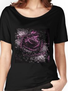 Dark Purple Flower - Abstract Fractal Artwork Women's Relaxed Fit T-Shirt