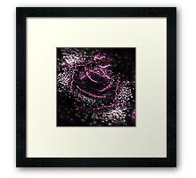 Dark Purple Flower - Abstract Fractal Artwork Framed Print