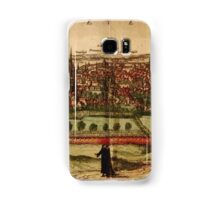 Leuven Vintage map.Geography Belgium ,city view,building,political,Lithography,historical fashion,geo design,Cartography,Country,Science,history,urban Samsung Galaxy Case/Skin