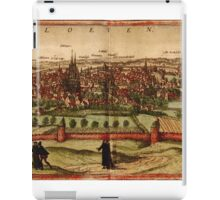 Leuven Vintage map.Geography Belgium ,city view,building,political,Lithography,historical fashion,geo design,Cartography,Country,Science,history,urban iPad Case/Skin