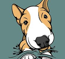 Cute Puppy Bull Terrier Tan and White by Sookiesooker