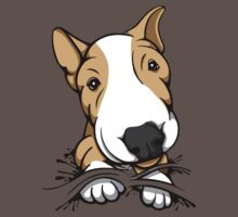 Cute Puppy Bull Terrier Tan and White Baby Tee