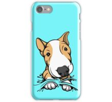 Cute Puppy Bull Terrier Tan and White iPhone Case/Skin