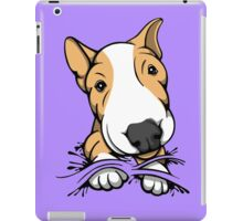 Cute Puppy Bull Terrier Tan and White iPad Case/Skin