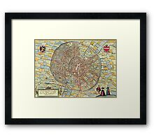 Leuven(2) Vintage map.Geography Belgium ,city view,building,political,Lithography,historical fashion,geo design,Cartography,Country,Science,history,urban Framed Print