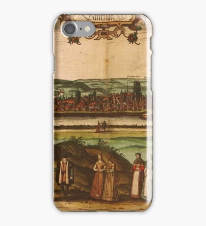 Gdansk Vintage map.Geography Germany ,city view,building,political,Lithography,historical fashion,geo design,Cartography,Country,Science,history,urban iPhone Case/Skin
