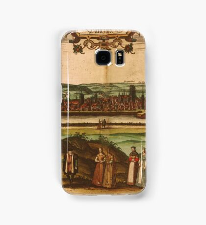 Gdansk Vintage map.Geography Germany ,city view,building,political,Lithography,historical fashion,geo design,Cartography,Country,Science,history,urban Samsung Galaxy Case/Skin