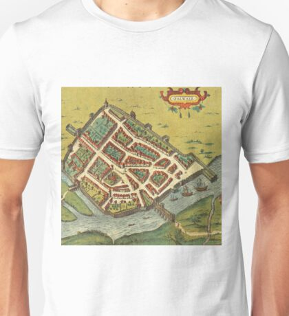 Galway Vintage map.Geography Irland ,city view,building,political,Lithography,historical fashion,geo design,Cartography,Country,Science,history,urban Unisex T-Shirt