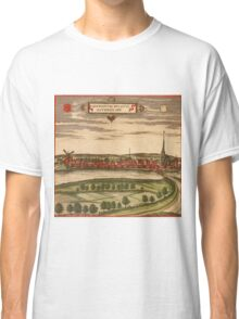 Gennep Vintage map.Geography Netherlands ,city view,building,political,Lithography,historical fashion,geo design,Cartography,Country,Science,history,urban Classic T-Shirt